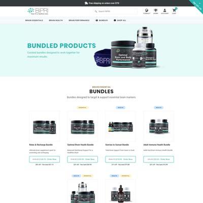 Product Bundles Page
