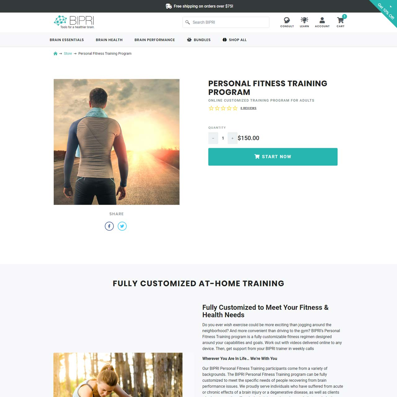 Personal Training Detail page