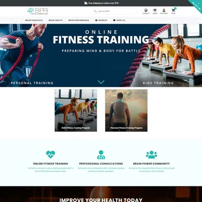 Fitness Training Page