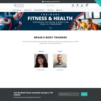 Personal Trainer Page