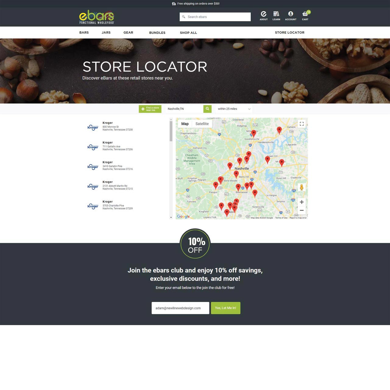 Store Location Page