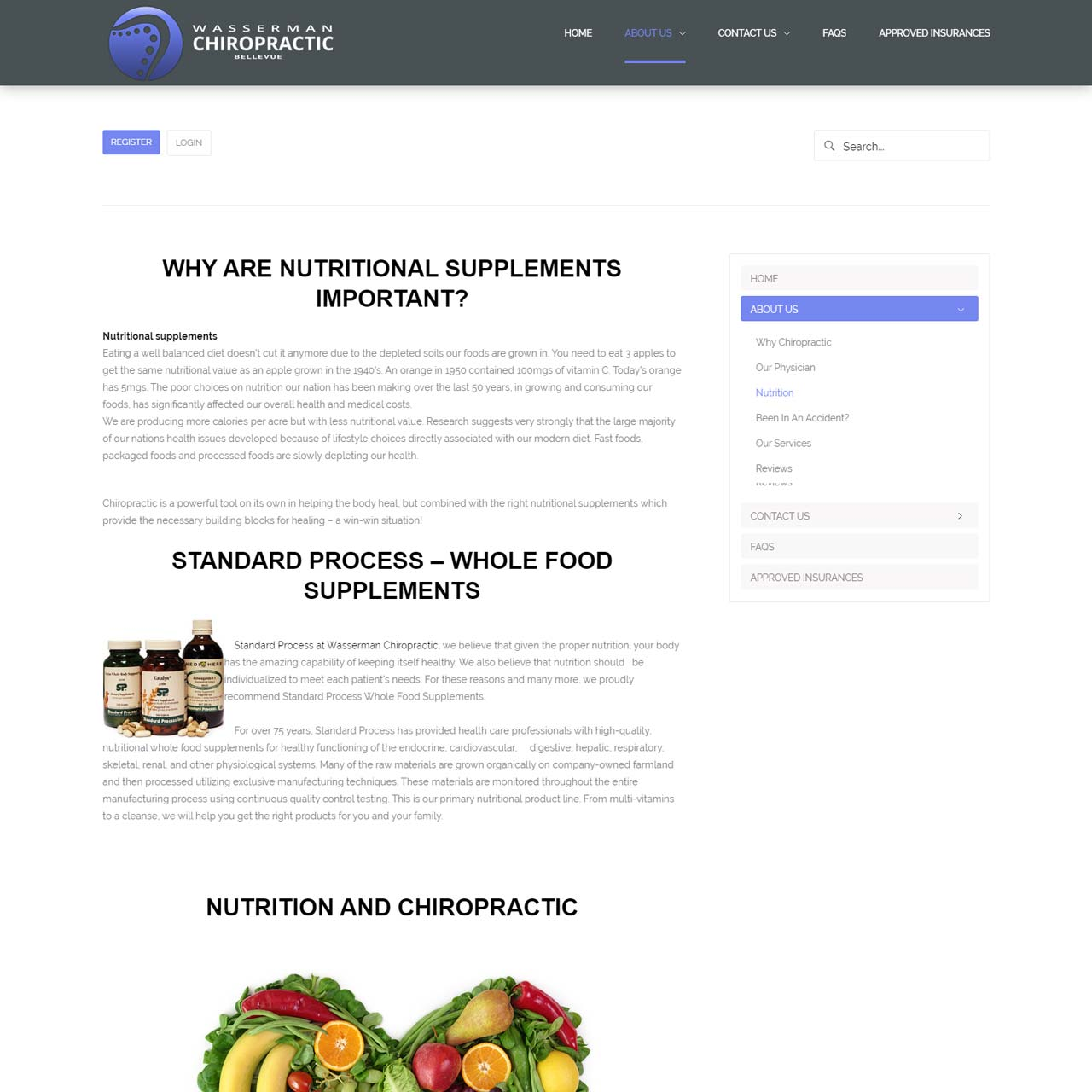 Nutrition Page