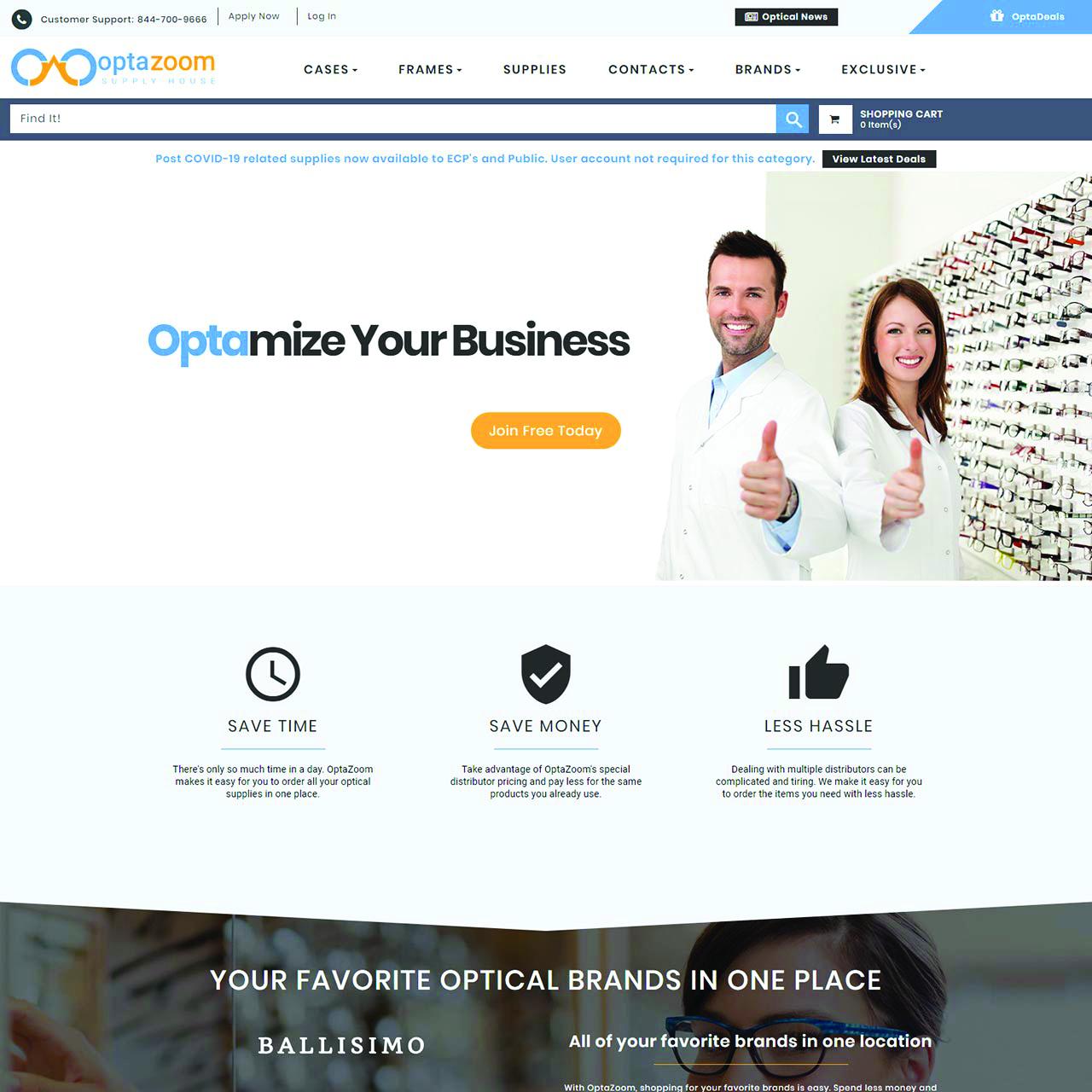 Optazoom Homepage