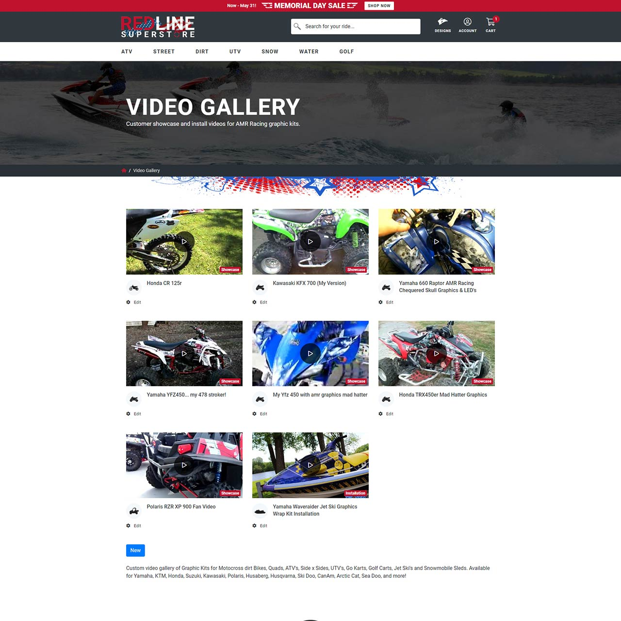 Video Gallery Page (YouTube Videos)
